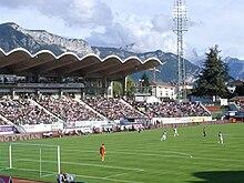 Visuale dello stadio Parc des Sports di Annecy, dove disputa le gare casalinghe l' Evian.