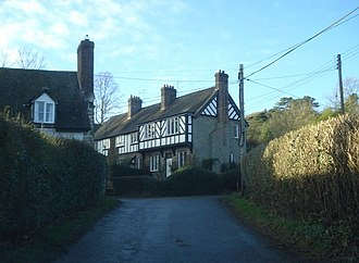 Bedstone - Image: Part timber frame house at Bedstone geograph.org.uk 655111