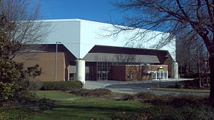 EagleBank Arena - West entrance in December 2011