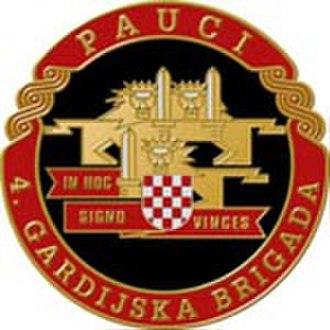 4th Guards Brigade (Croatia) - Sign of the 4th Guards Brigade
