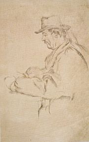 Paul Cézanne - Study for the Card Players, drawing, 1890-96, Honolulu Academy of Arts.jpg