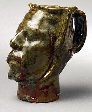 Jug in the Form of a Head, Self-Portrait - Jug in the Form of a Head, Self-portrait, Gauguin, 1889. Kunstindustrimuseet, Copenhagen.