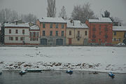 Neve na cidade da Pavia, no norte da It�lia.