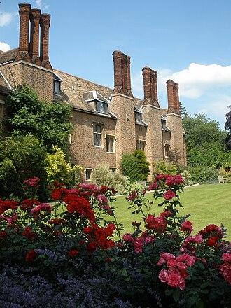 Pembroke College, Cambridge - The College gardens in Library Court
