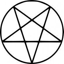 el pentagrama invertido es smbolo del satanismo y la magia negra