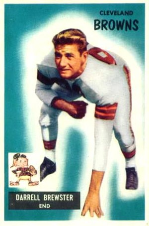 Pete Brewster - Brewster on a 1955 Bowman football card