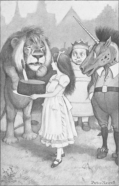 File:Peter Newell - Through the looking glass and what Alice found there 1902 - page 142.jpg