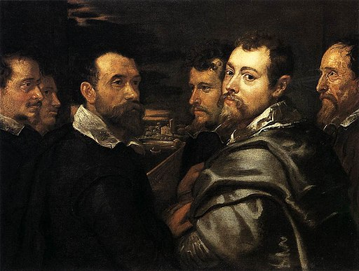 Peter Paul Rubens - Self-Portrait in a Circle of Friends from Mantua - WGA20355