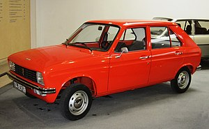 Peugeot 104 - The 104 was originally available only with a four-door booted body. The hatchback version appeared four years later
