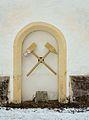 Pfarrkirche hl. Veit, Veitsch - mining symbol.jpg