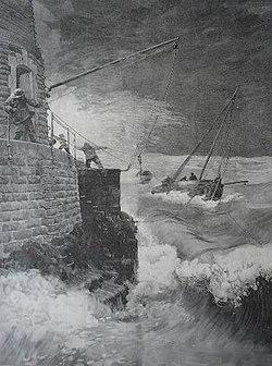 Gravure du phare du Four, extraite de lIllustration du samedi 4 juillet 1896