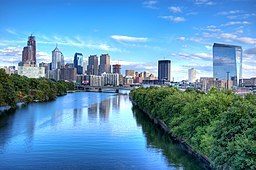 Philadelphias skyline.