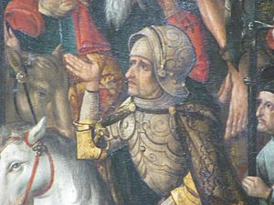 "Philipp I, Count of Hanau-Münzenberg - Count Philipp I ""the Younger"" of Hanau, on the altar piece in Wörth am Main"