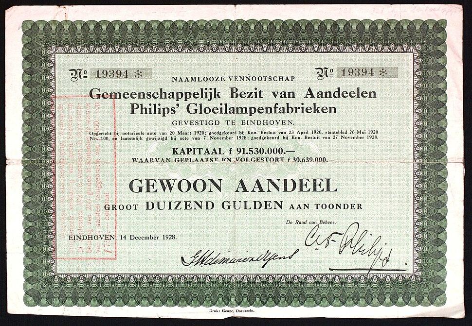 Philips Gloeilampenfabrieken 1928