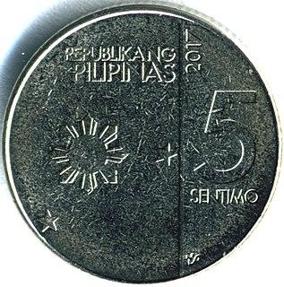 Philippine five centavo coin