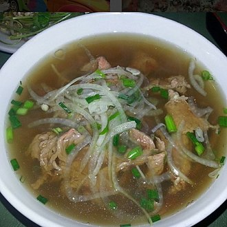 Vietnamese cuisine - Pho Bo from Hoi An - different regions have different recipes for their Pho