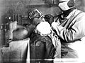 Photograph of intubation, using and laryngos Wellcome L0018287.jpg