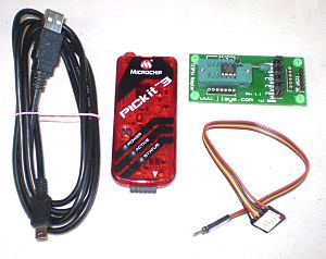 In-system programming - Microchip PICkit ICSP programmer