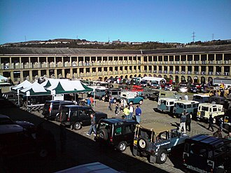 Piece Hall - A Land Rover rally at Piece Hall in 2008.