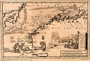 Historical map of New England