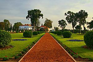 Mansion of Bahjí - Bahá'í gardens at Bahjí