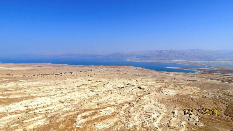ים המלח כפי שצולם ממצדה