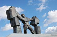 Statua di Sansone ad Ashdod