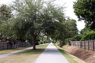 rail trail in Pinellas County, Florida, United States