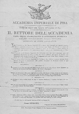 Scuola Normale Superiore di Pisa - The first statute of the Scuola Normale Superiore