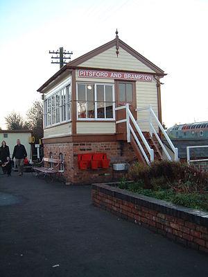 Pitsford and Brampton railway station - Image: Pitsford and Brampton signal box