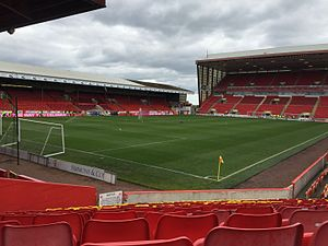 2017–18 Scottish Premiership - Image: Pittodrie from Block Y, May 2015