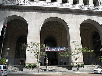 Pittsburgh City-County Building - Pittsburgh City-County Building Portico along Grant Street