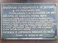 Placa de inauguração do Monumento 7 de Outubro, Ipatinga MG.JPG