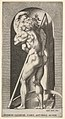 Plate 1- Saturn in a niche devouring his son, standing before a scythe, from a series of mythological gods and goddesses MET DP830886.jpg