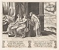 Plate 12- Psyche's sisters persuading Psyche that she has been sleeping with a serpent, from the Story of Cupid and Psyche as told by Apuleius MET DP862818.jpg