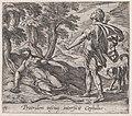 Plate 71- Procris Killed by Cephalus's Javelin (Procridem inscius interficit Cephalus), from Ovid's 'Metamorphoses' MET DP866518.jpg