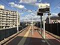 Platform of Chojabaru Station (Sasaguri Line) 2.jpg