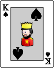 Playing card spade K.svg