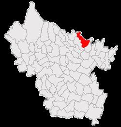Vị trí của Podgoria