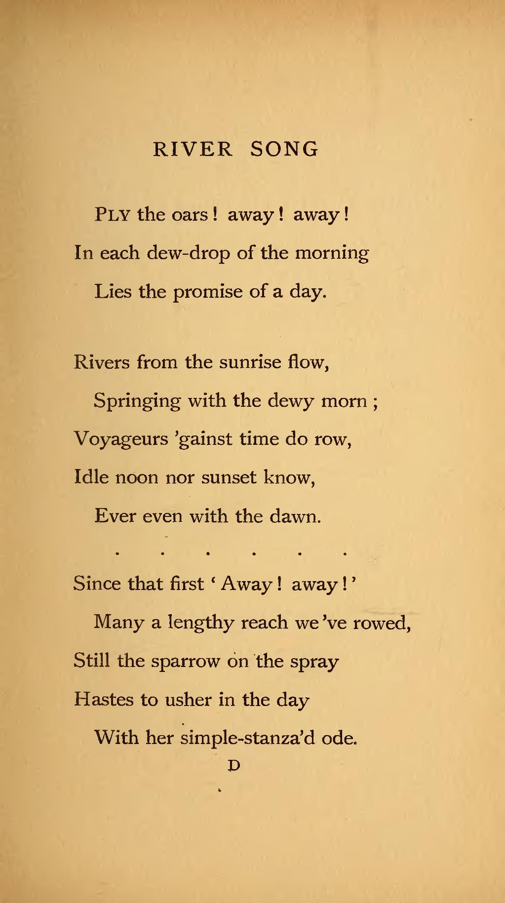 song of nature poem