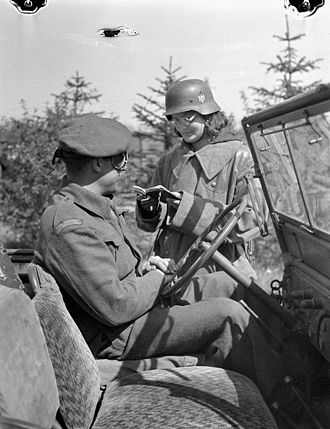 Haren, Germany - Polish servicewoman near Haren