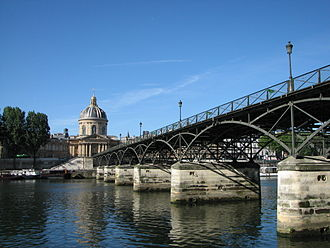 Pont des Arts - View from right bank of the Seine River