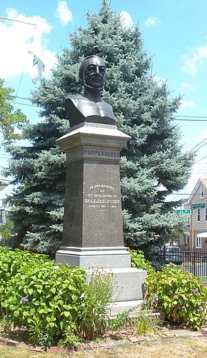 Conrad Poppenhusen - Monument on College Point Boulevard