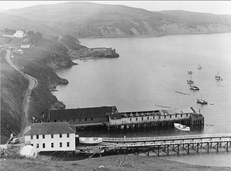 Point Reyes Lifeboat Station - view from the west-northwest, circa 1960