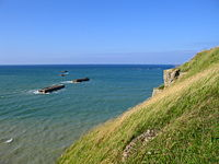Port flottant - ponton - Arromanches 1.JPG