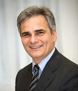Werner Faymann Austrian politician who was Chancellor of Austria and chairman of the Social Democratic Party of Austria