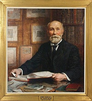 James Bain (librarian) - Colour portrait of James Bain by Edmund Wyly Grier, commissioned by the Board of the Toronto Public Library in 1909.