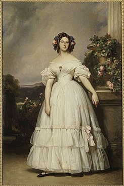 Portrait of Princess Clémentine of Orléans by Franz Xaver Winterhalter (Versailles).jpg