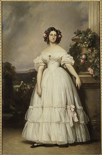 Princess Clémentine of Orléans - Princess Clémentine as a young woman. Portrait by Franz Xaver Winterhalter
