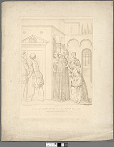 Portrait of St. Sixtus giving money to St. Laurence for alms (4674589).jpg
